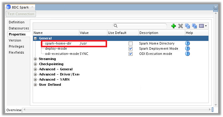 Figure 4 – ODI Topology for Big Data Cloud – Spark Home Directory