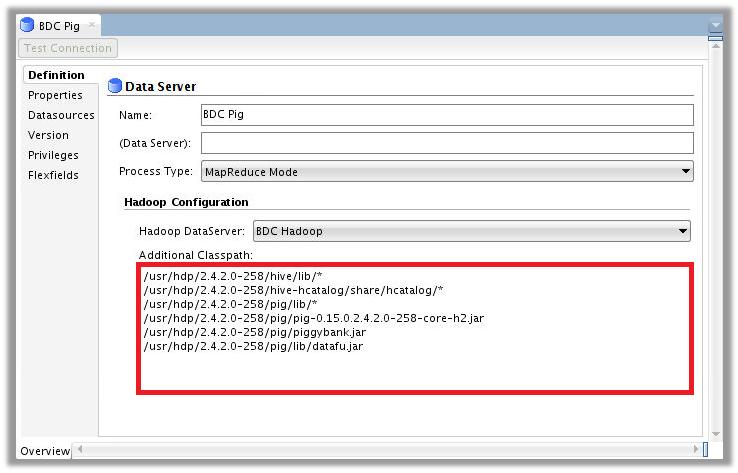Figure 5 – ODI Topology for Big Data Cloud – Pig Data Server