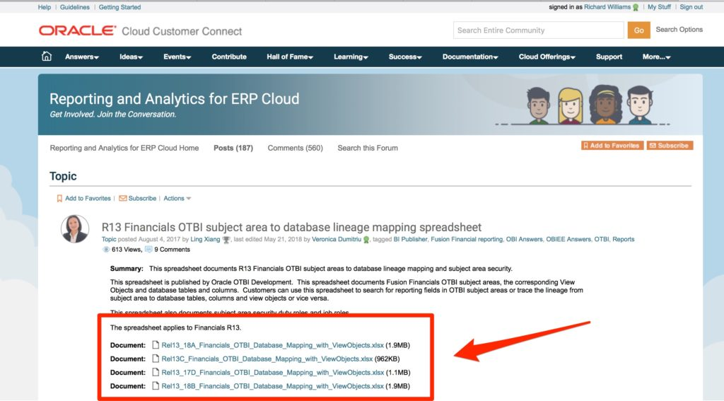 R13_Financials_OTBI_subject_area_to_database______Posts__187____Reporting_and_Analytics_for_ERP_Cloud___Forum___Oracle_Cloud_Customer_Connect