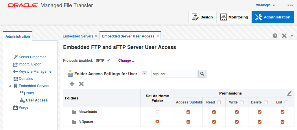 Performance of MFT Cloud Service (MFTCS) with File Storage