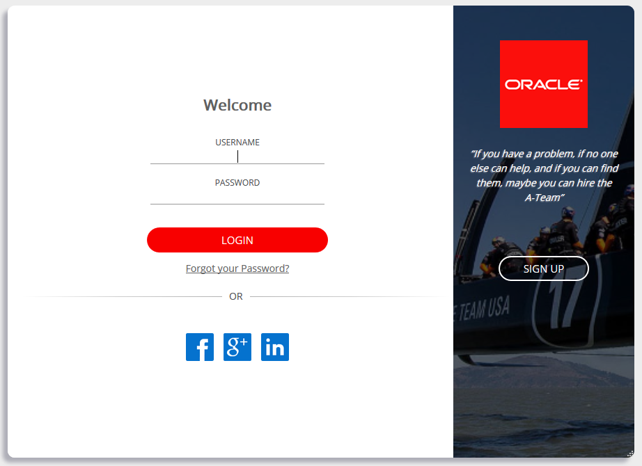Custom Login Widget for Oracle Identity Cloud Services | A