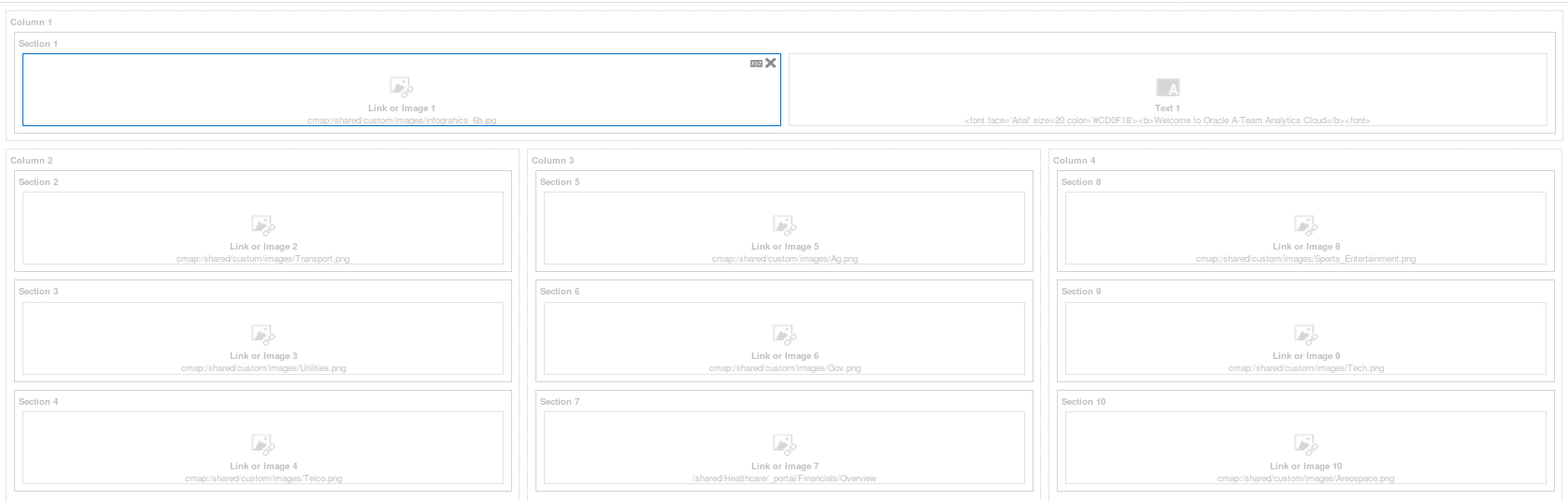 Creating a Dashboard Landing Navigation Page in Oracle