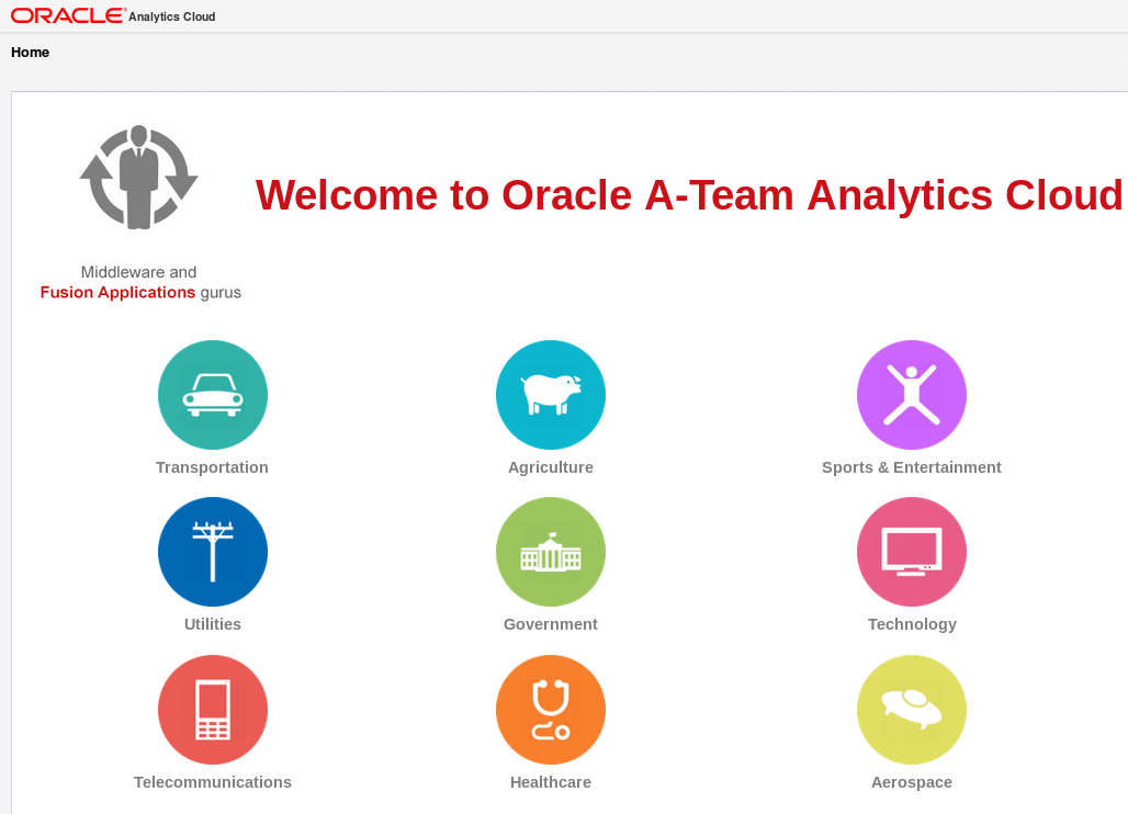 Creating a Dashboard Landing Navigation Page in Oracle Analytics