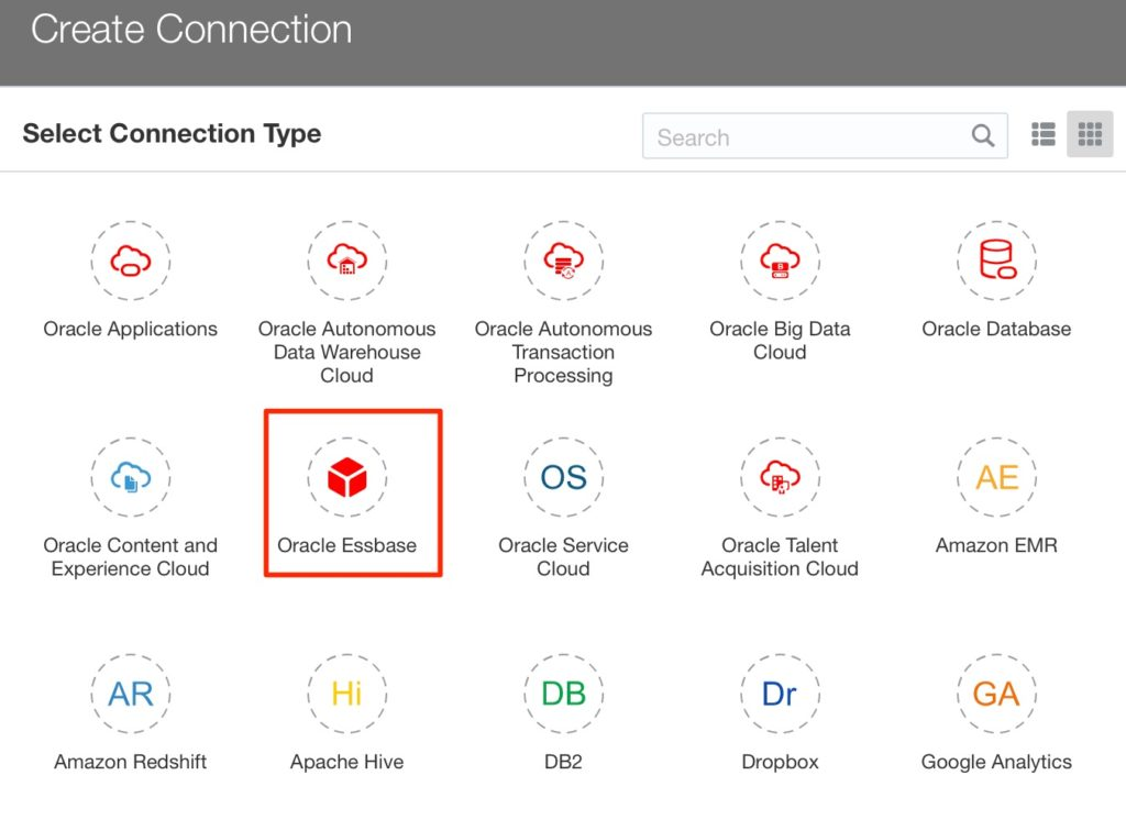 OAC Connection to On-Premise Essbase via Remote Data Connector | A