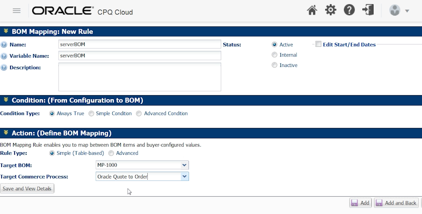How to Configure BOM Mapping in CPQ | A-Team Chronicles